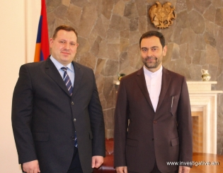 RA IC Chairman Hayk Grigoryan Received Ambassador Extraordinary and Plenipotentiary of Islamic Republic of Iran to Republic of Armenia Seyed Kazem Sajadi