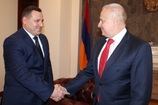 Chairman of RA IC Investigative Committee Hayk Grigoryan Received RF Ambassador Extraordinary and Plenipotentiary in Armenia Sergey Kopirkin